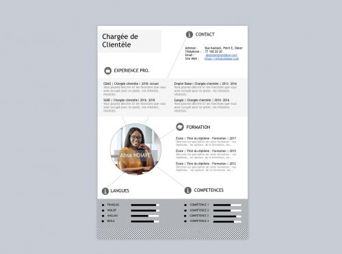 CV Chargé de Clientèle