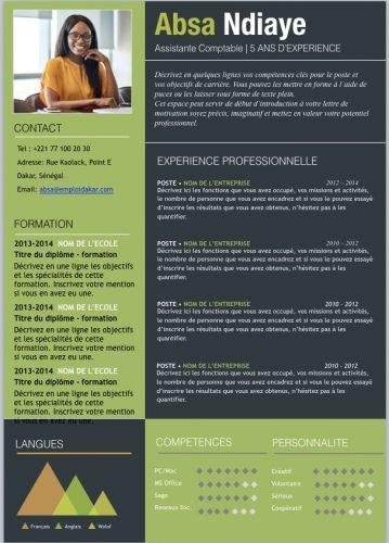 Exemple de CV Assistant Comptable en téléchargement gratuit