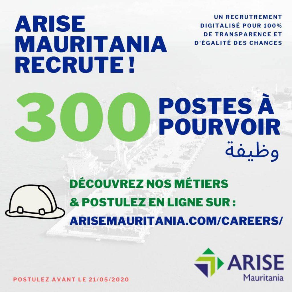 Arise Mauritanie recrute 51 profils pour 300 postes.jpeg