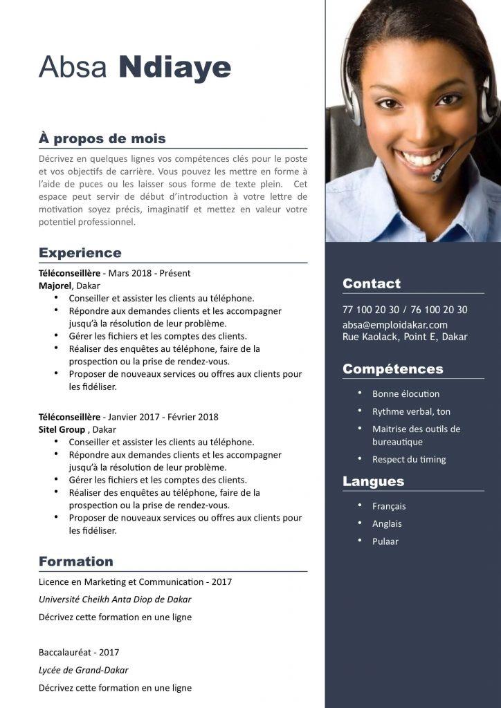 Exemple de CV Téléconseiller (Conseiller Commercial ...